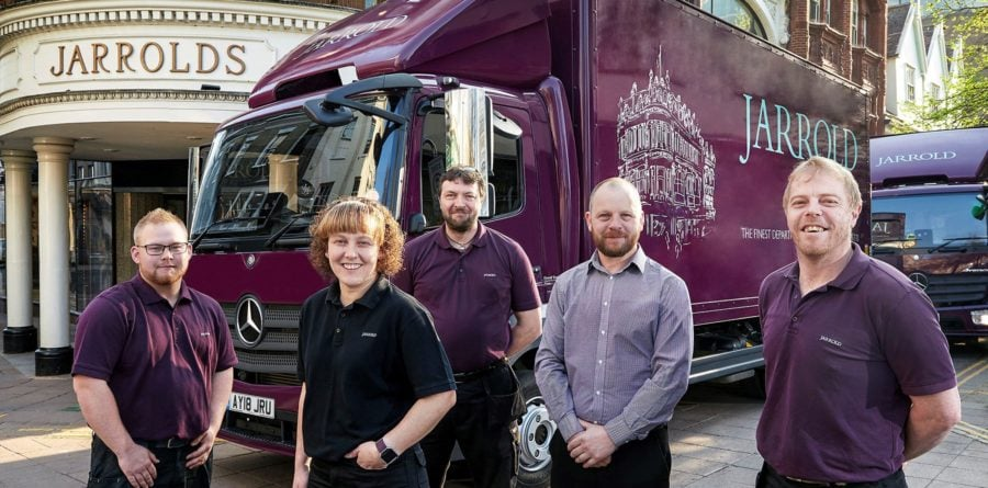 Jarrold takes delivery of new Mercedes-Benz Atego from Orwell Truck & Van