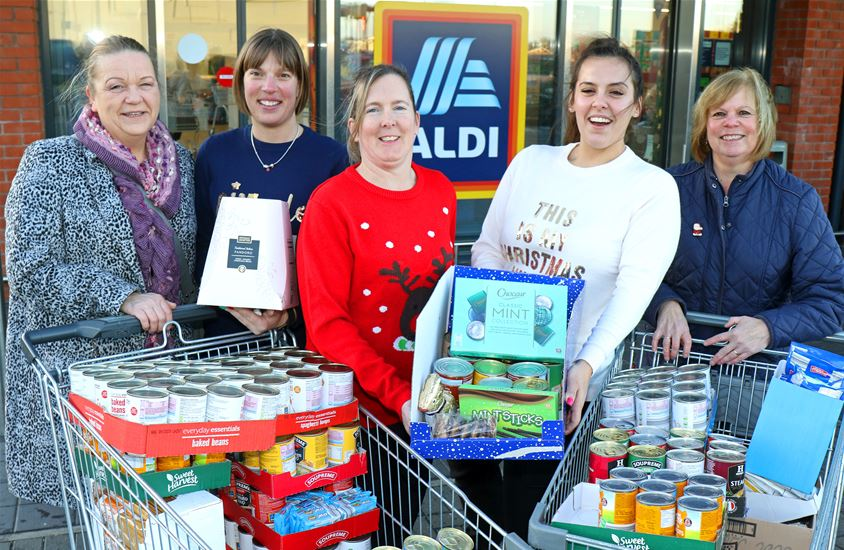Aldi gives boost to local firm's efforts to support Yarmouth Open Christmas