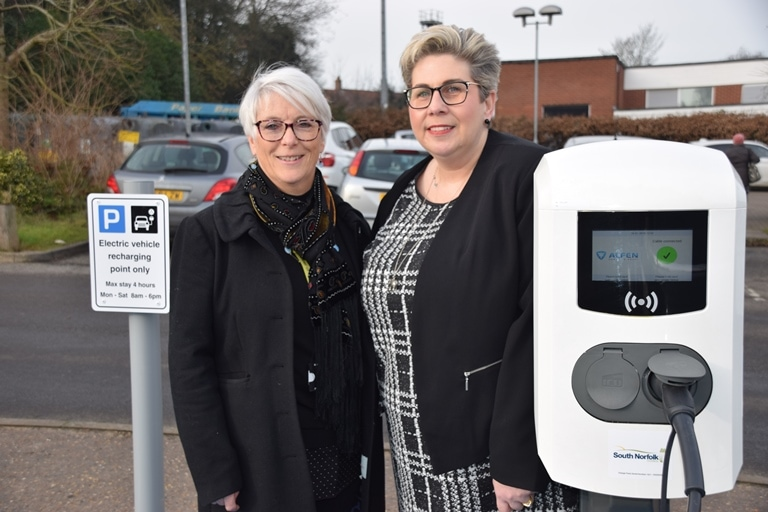 Vehicle charging points switched on in South Norfolk