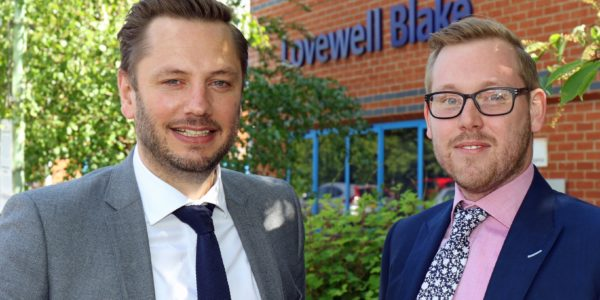 New Lovewell Blake Corporate Finance Specialist Ben Anstee (right) With Partner Matt Crawley