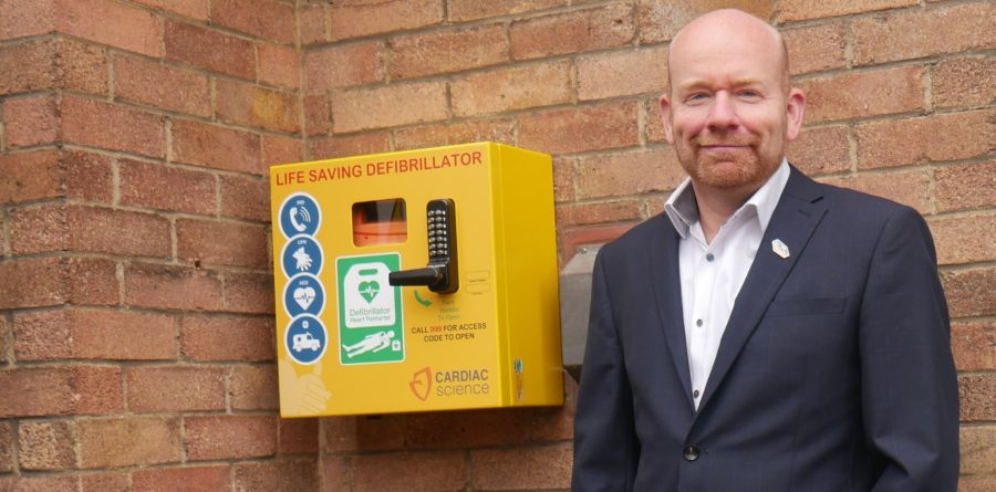 Accountancy firm fits seven defibrillators within the community