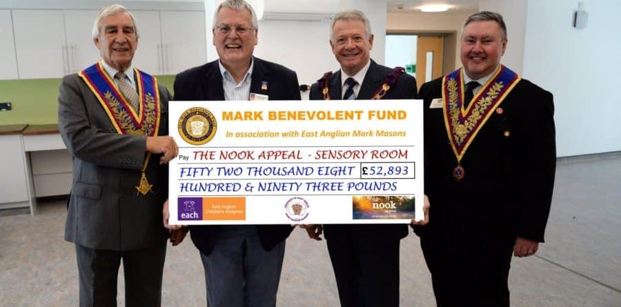 Region's Mark Master Masons funding sensory room at the nook