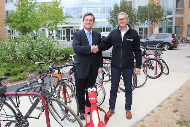 New Bike stand donated to Norfolk & Norwich University Hospital