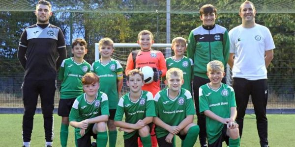 Horsford FC Under 11s Team With Coach Chris Egmore (right)